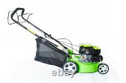 16 Self Propelled Petrol Lawnmower With Steel Deck & Central Height Adjustment