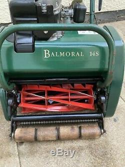 Allett Kensington Atco Balmoral 14s petrol self propelled cylinder lawnmower