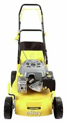 Challenge 40cm Steel Blade 45L Self Propelled 4 Stroke Petrol Mower 129cc