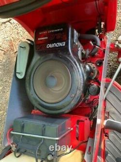 Countax ride on mower powered grass box