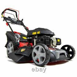 Frisky Fox Lawn Mower Petrol Self Propelled Lawnmower Electric Start 53cm 21