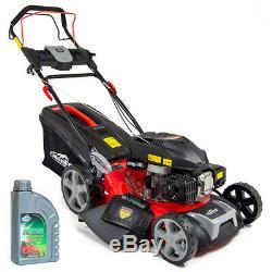 Frisky Fox Lawn Mower Petrol Self Propelled Lawnmower Recoil Start 530mm 21