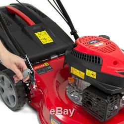 Frisky Fox Lawn Mower Petrol Self Propelled Recoil Start Lawnmower 43cm 17