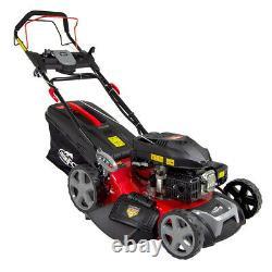 Frisky Fox Petrol Lawn Mower Self Propelled Lawnmower Electric Start 53cm 21