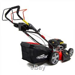 Frisky Fox Petrol Lawn Mower Self Propelled Lawnmower Recoil Start 51cm 20