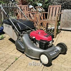 HONDA HRD 536 QXE K4 Self Propelled Mower Rear Roller Petrol Lawnmower