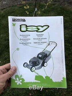 HONDA IZY HRG 536 SDE HRGSDE6 21 Self Propelled Lawn Mower Used 53cm