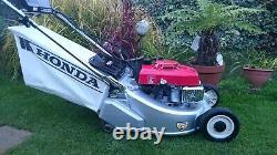 Honda HR194 QM 19 Self propelled RotoStop Electric start Roller Lawnmower
