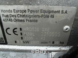 Honda HRD536 QXE Self Propelled Petrol Pro Rear Roller lawnmower 21 CUT Mower