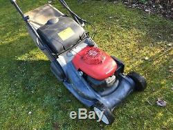 Honda HRX476C QXE Lawn Mower, Self Propelled Roller, Roto-Stop, GCV160 OHV