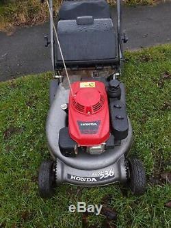 Honda Hrd536 Self Propelled Rear Roller Petrol Lawnmower