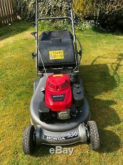 Honda Hrd536qxe 21 Petrol Self Propelled Rear Roller Lawn Mower