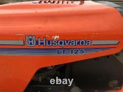 Husqvarna lt 125 ride on mower Barn Find Shed find