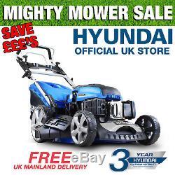 Hyundai Electric Start Petrol Lawnmower Self Propelled 51cm 21 173cc HYM510SPE