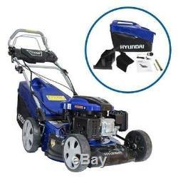 Hyundai HYM46SPE Electric Start Self-Propelled Petrol Lawnmower Cut and Mulch