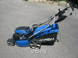 Hyundai HYM510 20 Self-Propelled Electric Start Petrol Roller Lawn Mower