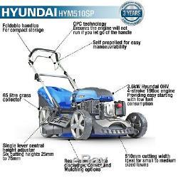 Hyundai HYM510SP Petrol Self Propelled Lawn Mower 51cm/20in