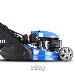 Hyundai Petrol Roller Lawnmower ELECTRIC START Self Propelled 173cc 20 Cut