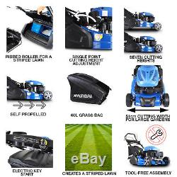 Hyundai Petrol Roller Lawnmower Self Propelled Electric Start 51cm HYM510SPER