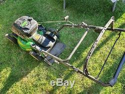 John Deere JS63 self propelled mulching petrol lawnmower + grassbox