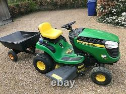 John Deere X105 ride on mower, used, good condition, with trailer. Windsor