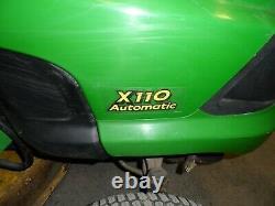 John Deere X110, 42 Cut, Ride on Petrol Mower, 18.5HP, 806 Working Hours