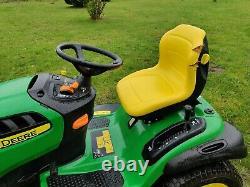John Deere X165 ride-on lawnmower, 48 cutting deck, low hours