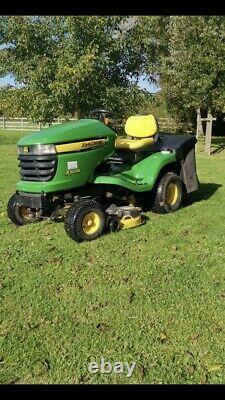 John Deere X300 42'' Ride On Lawn Mower Collector Tractor With Kawasaki Engine