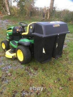 John deere 145 automatic 48'' ride on mower & trailer