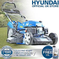 Lawn Mower Petrol Self Propelled ELECTRIC START Lawnmower 53cm 21 HYUNDAI