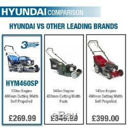Lawn Mower Petrol Self propelled 460mm 18 139cc 4 in 1 mower Hyundai HYM460SP
