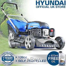 Lawn Mower Petrol Self propelled Lawnmower 460mm 18 139cc 4 in 1 mower Hyundai