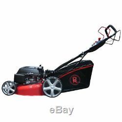 Lawnmower 20 51cm 510mm Petrol Self Propelled Electric Start RocwooD 4 in 1