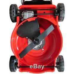 Lawnmower SELF PROPELLED RocwooD 17 43cm 99cc Mulching Grassbox Plus FREE Oil