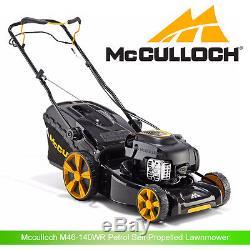Mcculloch M46-140WR Petrol Self-Propelled Lawnmower 46cm Metal Blade 140cc