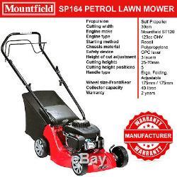Mountfield Petrol Lawnmower Sp164 Self Propelled Mower 39cm Blade 40l Grass Box