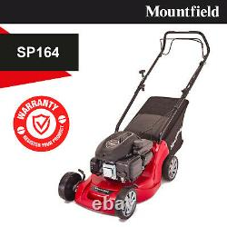 Mountfield SP164 Self Propelled Petrol Lawnmower 39CM Blade 123cc 40L Grass Box