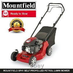 Mountfield Sp41 Self Propelled Petrol Lawnmower 39cm Blade 40l Grass Box