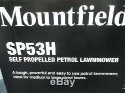 Mountfield Sp53h Self Propelled Petrol Lawnmower 51cm 167cc- New