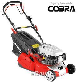 New Cobra RM40SPC 16 Self Propelled Petrol Rear Roller Lawnmower. Free Postage