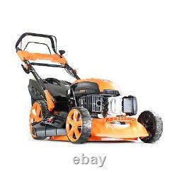 Petrol Lawn Mower Electric Start Lawnmower Mulch 20 Hyundai 173cc engine