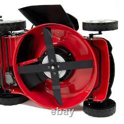 Petrol Lawn Mower Self Propelled Electric Start 4 Blades 21 53cm 200cc