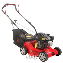 Petrol Lawnmower Push RocwooD 132cc 16 Mower Plus FREE Oil