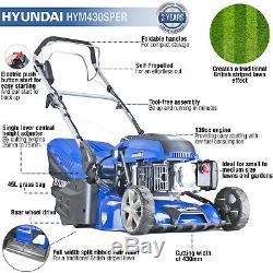 Petrol Lawnmower Rear Roller Self Propelled Lawn Mower 43cm 17 Striped Effect