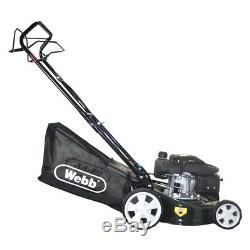 Petrol Lawnmower SELF PROPELLED 16 40cm 7 Cut Heights 50L Plus FREE Oil Webb