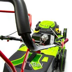 Petrol Lawnmower SELF PROPELLED Mower 46cm 140cc REM Electric Start + FREE Oil