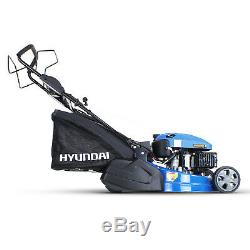 Petrol Roller Lawnmower Hyundai HYM510SPER Self Propelled Key Start 173cc 5HP