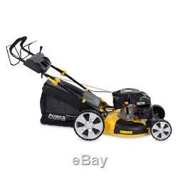 Powerplus 20 508mm Self Propelled 6.5hp Petrol Lawn Mower Adjust Speed & Height