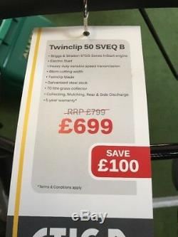 STIGA Twinclip 50 SVEQ B Self-Propelled Lawnmower