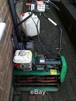 Self propelled petrol lawnmower used